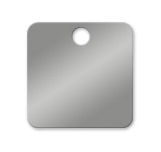 Stainless Steel Square Tags 1-1/2 inch Valve Tag - Pk/25 NapTags SSRC8-022