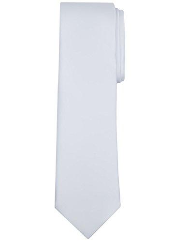 (Jacob Alexander Solid Color Men's Regular Tie - White)