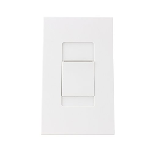 Leviton MNX20-7LW 2000VA, 277V, Monet Preset Digital Electronic Mark 10 Powerline Fluorescent Slide Dimmer, LED Locator Light, Narrow Fin, White