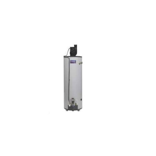 AMERICAN WATER HEATER GIDDS-479023 American Tall Powerflex Power Vent Natural Gas Water Heater, 40 gallon, 50,000 Btu, Side T & P Relief Valve