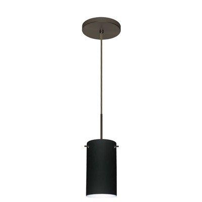 4404tn Led - Stilo 1 Light Mini Pendant Finish: Bronze, Glass Shade: Titan, Bulb Type: LED