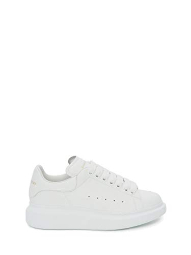 -Alexander McQueen Women's&Men's White Oversized Leather Casual Sports Shoes Fashion Sneakers Walking Shoes in Fashion Style (36 EU)
