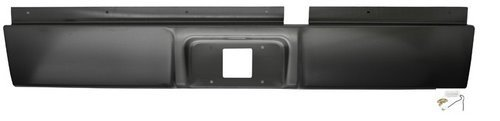 Rear Steel Roll Pan - IPCW CWRS-02DG Dodge Pickup/RAM Steel Roll Pan with License Plate Hole and Light