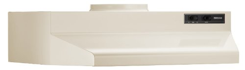 Broan 423008 ADA Capable Under-Cabinet Range Hood, 190 CFM 30-Inch, Almond