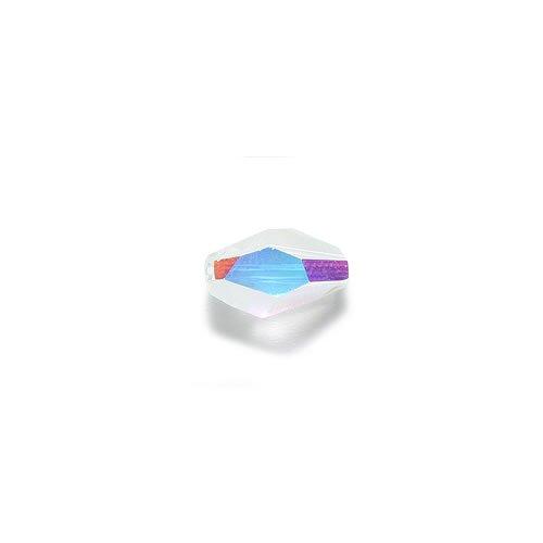 Swarovski 5203 Polygon Diamonds Beads, Aurora Borealis Finish, 8 by 12mm, Crystal, - Swarovski Polygon Crystal