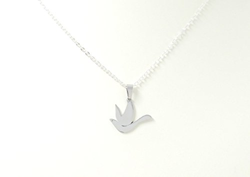 Stainless Steel Dove Pendant Necklace