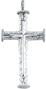 Rugged Capital Cross Sterling Silver Pendant
