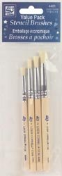 Loew-Cornell Bulk Buy Stencil Brush Set Size 1 2 3 And 4 4401 (3-Pack) by Loew-Cornell