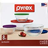 - Pyrex® 8-Piece Sculpted Mixing Bowl Set comes in BPA-free and Dishwasher safe