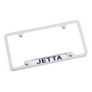 jetta chrome license plate frame - 4