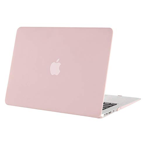 MOSISO MacBook Air 13 inch Case (Models: A1369 & A1466, Older Version 2010-2017 Release), Plastic Hard Shell Case Cover Only Compatible with MacBook Air 13 inch, Rose Quartz (Ipad Air Top Case)
