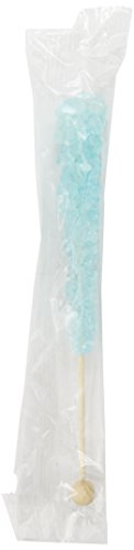 Rock Candy Crystal Sticks, Light Blue Cotton Candy, 12-Count