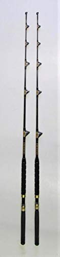 (Xcaliber Marine Pair of (2) Tournament Series 6' 30-50 lb Saltwater TROLLING RODS (RED and Gold Trim))