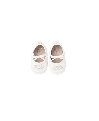 next Chaussures Bébé Style Ballerines (Maternelle Fille) Fille Bébé Standard Blanc 3-6 Mois