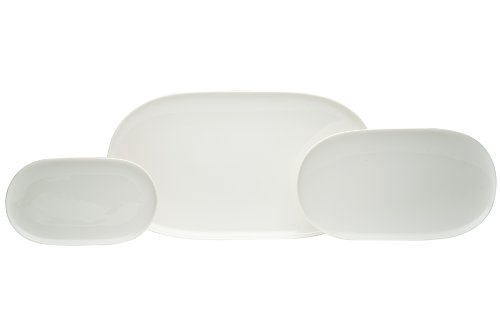 Dinnerware Oval Serving Platter (Red Vanilla Everytime White 3-Piece Platter Set)