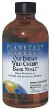 Wild Cherry Syrup - Planetary Herbals Old Indian Wild Cherry Bark Syrup With Echinacea - Natural - 16 oz