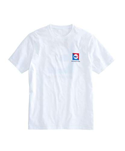 s Short Sleeve Graphic Pocket Cotton T-Shirt (White Cap/Split Burgee, Medium) ()