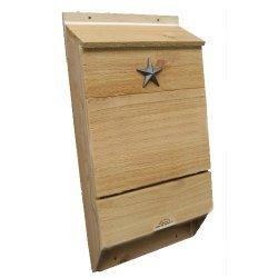 Lone Star Woodcraft Triple Chamber Bat House - Bat Box - Certified by Bat Conservation International