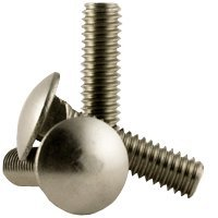 1/4''-20 x 1'' CARRIAGE BOLTS COARSE STAIN A2 (18-8),,Size: 1/4''-20,Length: 1'',Head: Round,Drive: External Square,stainless_steel_18-8,Thread Type: UNC (Inch) (Quantity: 100)