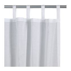IKEA WILMA Pair Of Sheer White Curtains With Tabs To Fit Any Length