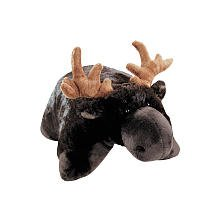 "Pillow Pets Brown PeeWee Moose - 11"""