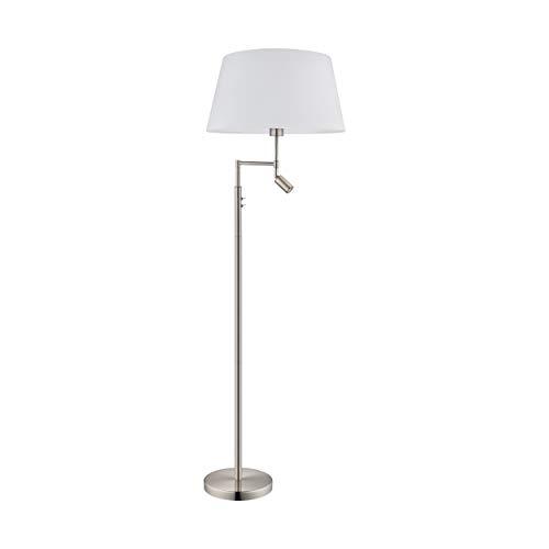 EGLO 94946 staande lamp uit de serie SANTANDER van staal in nikkel-mat