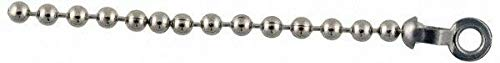 13/32 Inch Long Stainless Steel End Coupling for Trade Size Number 6 Ball Chains by IM VERA