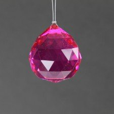 1 X Beautiful Hot Pink Crystal Ball 40mm for Home/office/holiday decoration by Power Sport