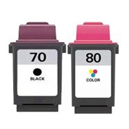 12a1970 Black Remanufactured Inkjet Cartridge (Toner Spot Remanufactured Full Color Set Ink Cartridges Replacement for Lexmark 12A1970 No.70 and 12A1980 No.80 (Black and Color))