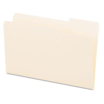 File Folders, 1/3 Cut, One-Ply Top Tab, Third Position, Legal, Manila, 100/Box, Sold as 100 Each
