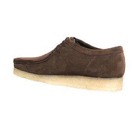 Clarks Originals Wallabee Schuh Dark Brown Suede