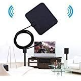 Officelead HDTV Antenna,MMUSC Indoor Amplified TV Antenna 50 Miles Range with Detachable Amplifier Signal Booster Highest Performance Cable