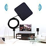 Officelead HDTV Antenna,Indoor Amplified TV Antenna 50 Miles Range with Detachable Amplifier Signal Booster Highest Performance Cable