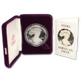 1986 S Proof American Silver Eagle OGP $1 US (American Silver Eagle Dollar Coin)