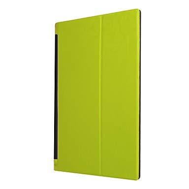 Lenovo Lenovo Yoga Tab 3 10.1 (YT3-X50F / M) 用ケース スタンド/フリップ/折り紙付き フルボディケース ソリッドカラー ハードPC Lenovo Yoga Tab 3 10.1 (YT3-X50F / M)  グリーン B07LDVTS15