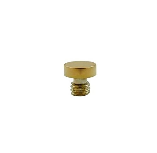 Deltana Button Tip Solid Brass Cabinet Finial in PVD (Set of 10)