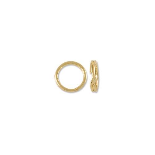 Split Ring 4.5mm 14 Karat Yellow Gold (Ring Yellow Gold Split 14k)