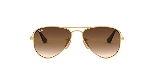 Ray-Ban Junior Kid's RJ9506S Aviator Kids Sunglasses, Gold/Brown Gradient, 52 mm (Ray-ban Sonnenbrillen Aviator Small)