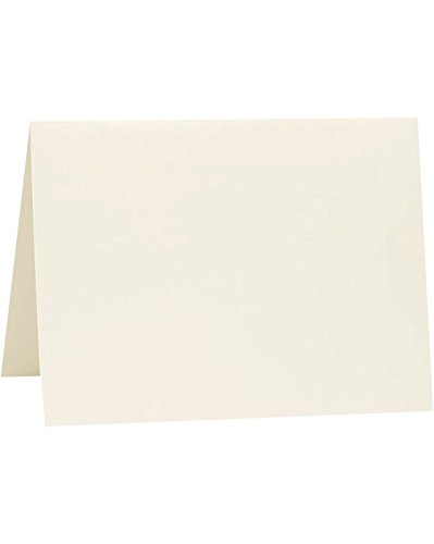 A2 Folded Card (4 1/4 x 5 1/2) - Natural White - 100% Cotton (250 Qty.) by Reich Paper