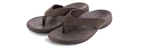 (SOLE Men's Catalina Sport Flip, Dark Brown, M 9)