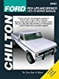 Chilton Ford Trucks and Bronco 1973-1979 Repair Manual (26662)
