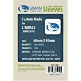 (Swan Card Sleeves (60x90mm) - 160 Pack, Thin Sleeves - Citadels, Alhambra, Castle Panic)