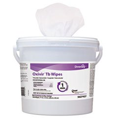 Diversey 5627427 Oxivir TB Disinfectant Wipes 11 x 12 White 160/Bucket 4 Bucket/Carton