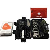 90 Piece Emergency Kit : 12 in 1 Survival Tool Kit; 78 in 1 Piece First Aid Kit perfect for Outdoor Adventures, Hiking,Camping, Boating, Trips,ect. from Shoppit