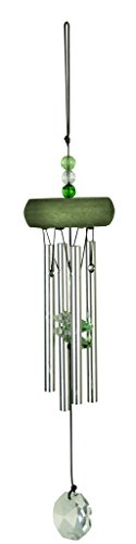 NATURE'S MELODY Gem-Kristallglas Klangspiel circa 11 Zoll / 27 cm, grün
