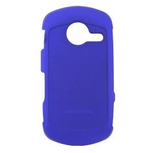 Casio Hitachi G'zOne Commando C771 Rubberized Hard Phone Cover Protector Case - Blue (Casio Cell Phone Covers)