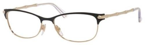 GUCCI 04Z6 Shiny Black Gold Eyeglasses
