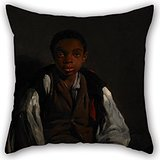 artistdecor The Oil Painting William Lindsay Windus - The Black Boy Pillowcase of,18 X 18 Inches / 45 by 45 cm Decoration,Gift for Kids Room,Deck Chair,car Seat,Divan,her,Teens (Twice Sides)