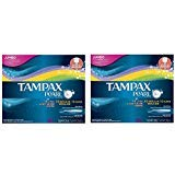 Tampax Pearl Plastic Tampons, Triple Pack, Light/Regular/Super Absorbency, Unscented, 50 Count (Pack of ()