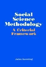 Social Science Methodology: A Criterial Framework by John Gerring (2001-09-10)